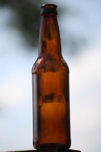 A normal beer bottle
